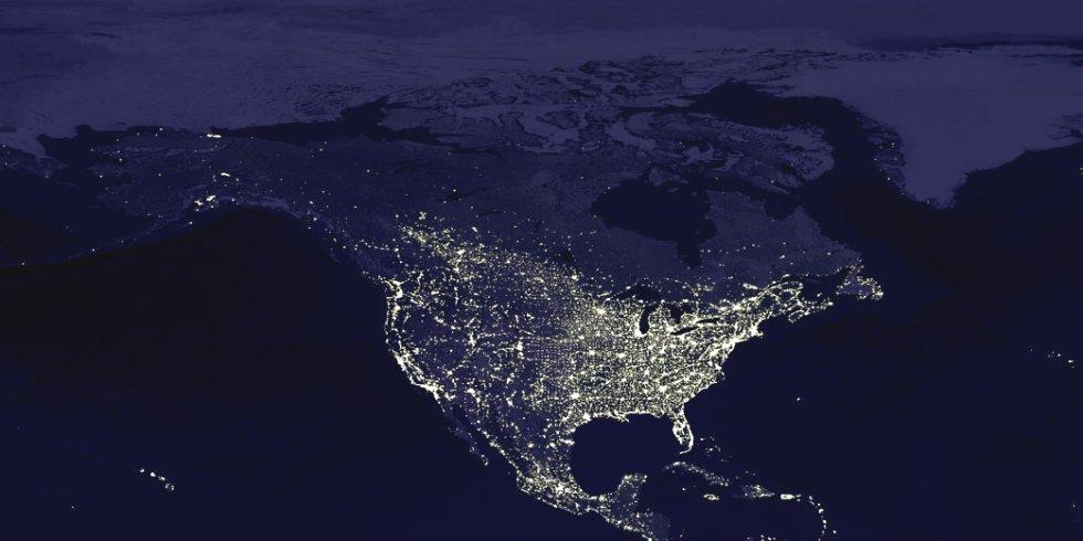 Erde Bei Nacht
